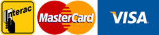 We accept: Interac - MasterCard - Visa